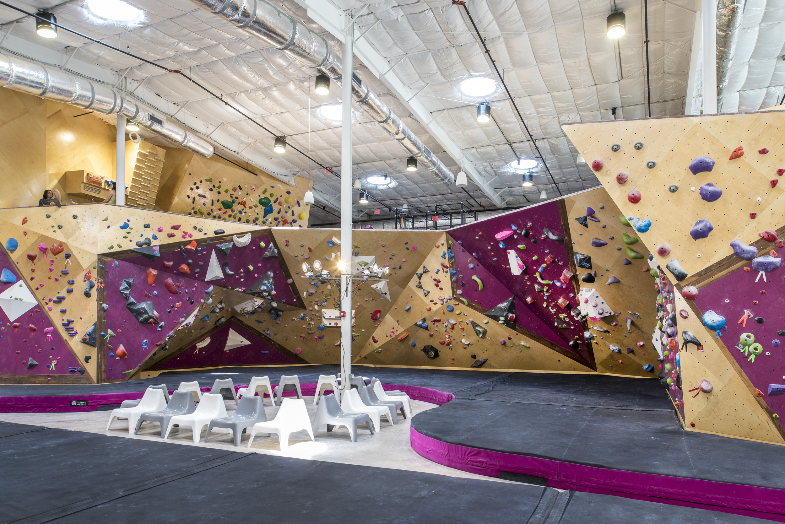 indoor climbing area